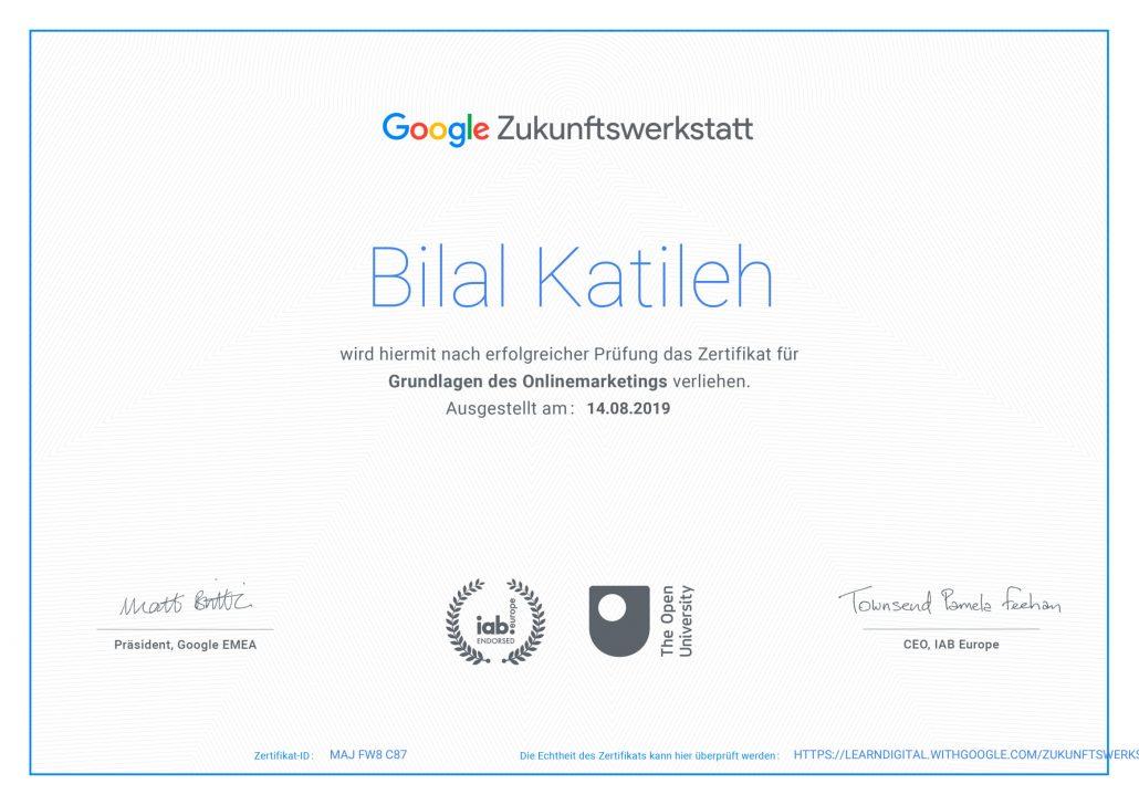 Zertifizierter Google Online-Markter